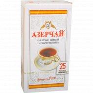Чай черный «Азерчай» с ароматом бергамота, 25 пакетиков.
