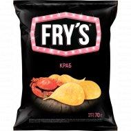 Чипсы «Fry's» вкус краба, 70 г.