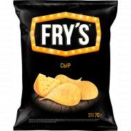 Чипсы «Fry's» вкус сыра, 70 г.