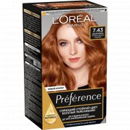 Краска для волос «L'Oreal Paris» Preference Feria, шангрила 7.43.