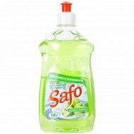 Средство для мытья посуды «Safo» зеленое яблоко, 500 мл.