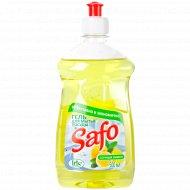 Средство для мытья посуды «Safo» сочный лимон, 500 мл.