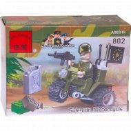 Игрушка - конструктор «BRICK» военный мотоцикл, 24 детали.