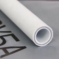 Труба «РосТурТрейд» ПП алюминий 32х5.4 PN25 белый 4 метра.