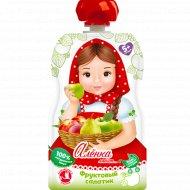 Пюре «Аленка любит» яблоко, груша и персик, 90 г.