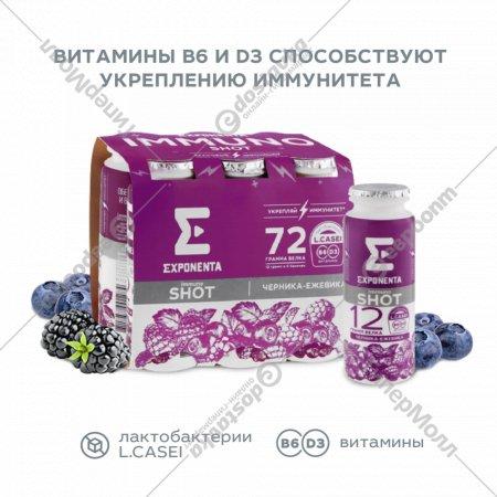 Продукт кисломолочный «Exponenta» черника-ежевика, 100 г.