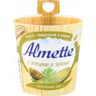 Сыр творожный «Almette» с огурцами и зеленью, 60 %, 150 г.