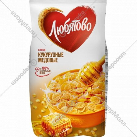 Хлопья кукурузные «Любятово» медовые 270 г.