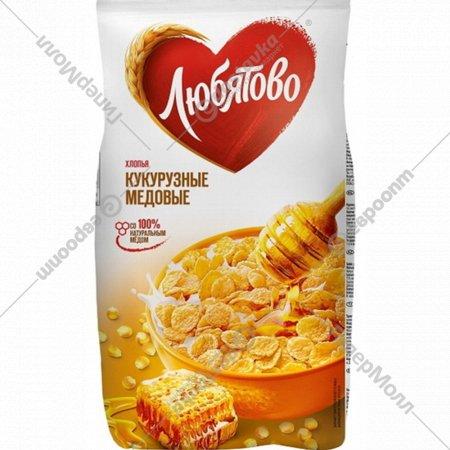 Хлопья кукурузные «Любятово» медовые, 250 г.