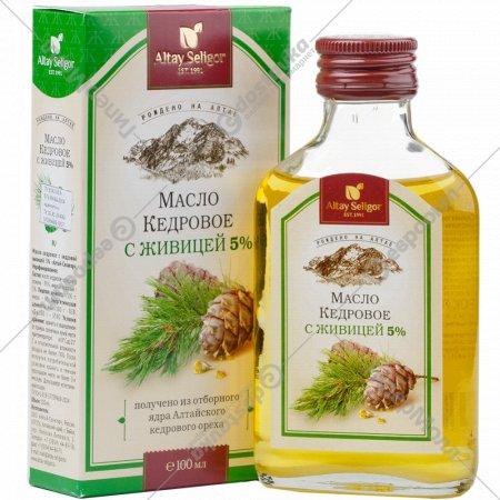 Масло кедровое «Алтай-Селигор» с живицей, 100 мл.