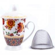 Чашка с крышкой «Belbohemia» Folk 310 мл, RN10050-424