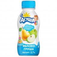 Йогурт питьевой «Агуша» яблоко-груша 2.7 %, 200 г