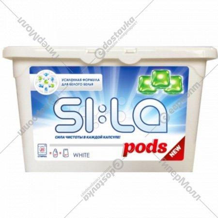 Капсулы для стирки «SI:LA» Pods white, 21 шт.