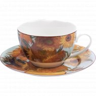 Чашка с блюдцем «Belbohemia» Ван Гог, Подсолнухи 230 мл, RN10004-Z039