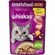 Корм для кошек в сырном соусе «Whiskas» с курицей и уткой, 85 г