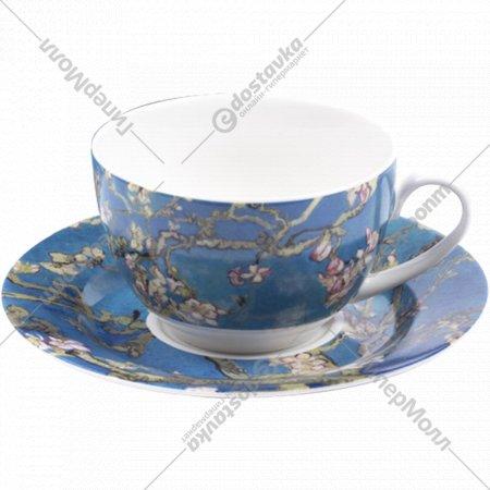 Чашка с блюдцем «Belbohemia» Ван Гог, Цветущий миндаль 230 мл, RN10004-Z042