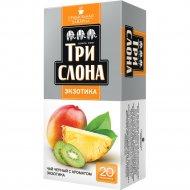 Чай черный «Три слона» экзотик, 20 пакетиков.