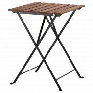 Садовый стол «Тэрно» 55x54 см, черный/серо-коричневая морилка.