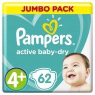 Подгузники Pampers Active Baby-Dry 9-16 кг, 4+ размер, 62 шт.