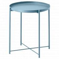Стол «Гладом» сервировочный, 45x53 см, синий.