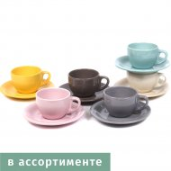 Чашка с блюдцем «Belbohemia» 180 мл, 2857/col-11