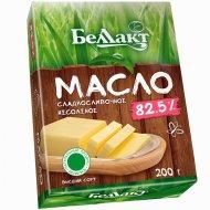 Масло сладкосливочное «Беллакт» несоленое, 82.5%, 200г