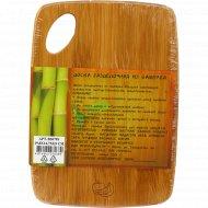 Доска разделочная из бамбука, 19.8x14.7x0.9 см.