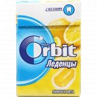 Леденцы «Orbit» лимон и мята, 34 г.