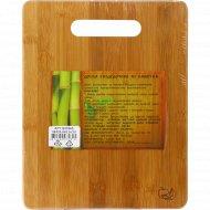 Доска разделочная из бамбука, 26x20.5x0.9 см.