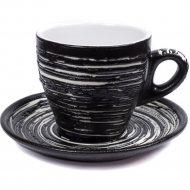 Чашка с блюдцем «Belbohemia» 220 мл, QYS10047-BLK