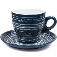 Чашка с блюдцем «Belbohemia» 220 мл, QYS10047-BL