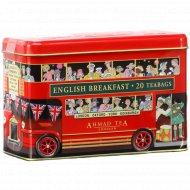 Чай черный «English breakfast» байховый мелкий, 20х2 г.