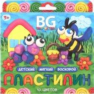 Пластилин детский «BG» восковой, 10 цветов