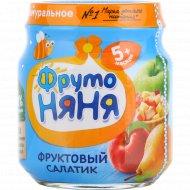 Пюре «Фрутоняня» фруктовый салатик, 100 г.