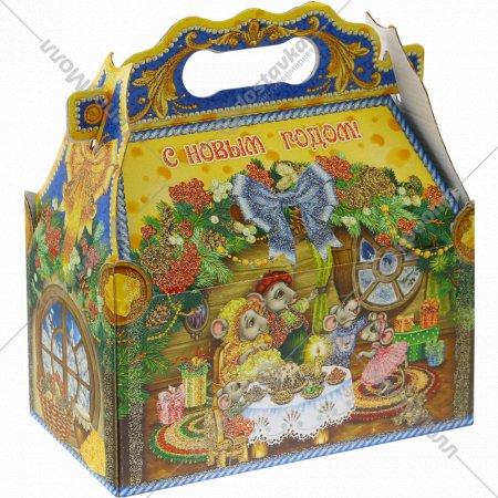 Новогодний подарок «Мышки в сыре» ларец, 1.1 кг.