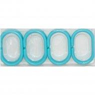 Кольца для шторки «DomiNado» KL-B, 12 шт, голубые