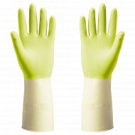 Резиновые перчатки «Поткес» M, зеленые.