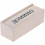 Домино в деревянной упаковке, 4010D-N.