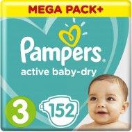 Подгузники «Pampers» Active Baby-Dry, 6-10 кг, размер 3, 152 шт