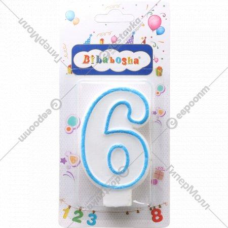 Свеча-цифра «6».