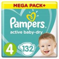 Подгузники «Pampers» Active Baby-Dry, размер 4, 9-14 кг, 132 шт.
