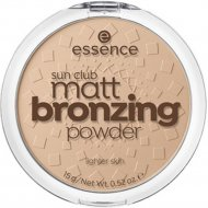 Бронзер sun club natural glow bronzing powder, Essence, тон 01, 9 г