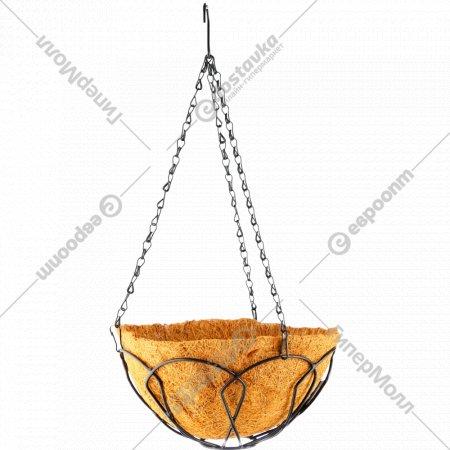 Подвесное кашпо с кокосовой корзиной, 25 см.