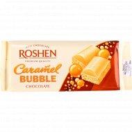 Шоколад белый пористый «Рошен» карамель, 85 г.