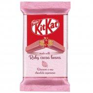 Молочный шоколад «Kitkat» розовый с хрустящей вафлей, 41.5 г.