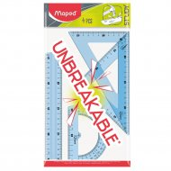 Набор «Unbreakable» линейка, 2 треугольника, транспортир