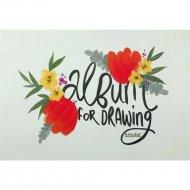 Альбом для рисования «Flower» 30 листов, на склейке, ассорти
