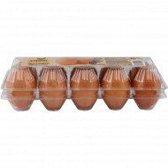 Яйца куриные «Золотые» отборные C-0, 10 штук.