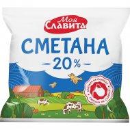 Сметана «Молочное кружево» 20%, 400 г.