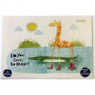 Альбом для рисования «Жираф» 30 листов, на склейке, ассорти